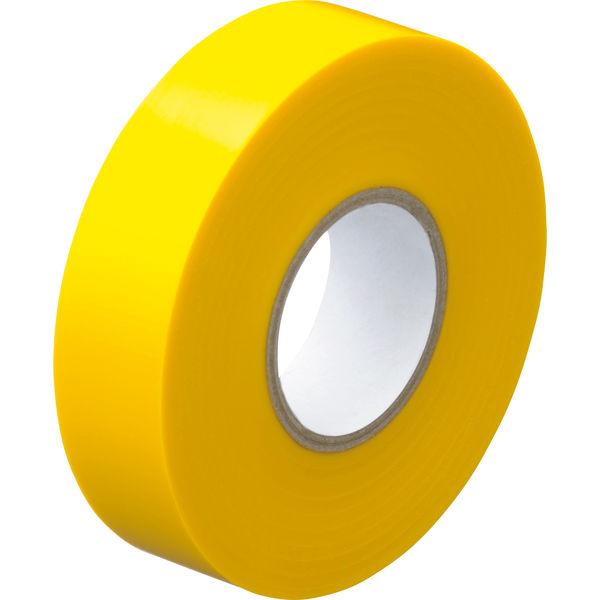 アスクル「現場のチカラ」 ビニールテープ 黄 19mm×20m巻 1箱(10巻入)
