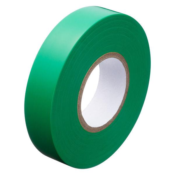 アスクル「現場のチカラ」 ビニールテープ 緑 19mm×20m巻 1セット(30巻:10巻入×3箱)