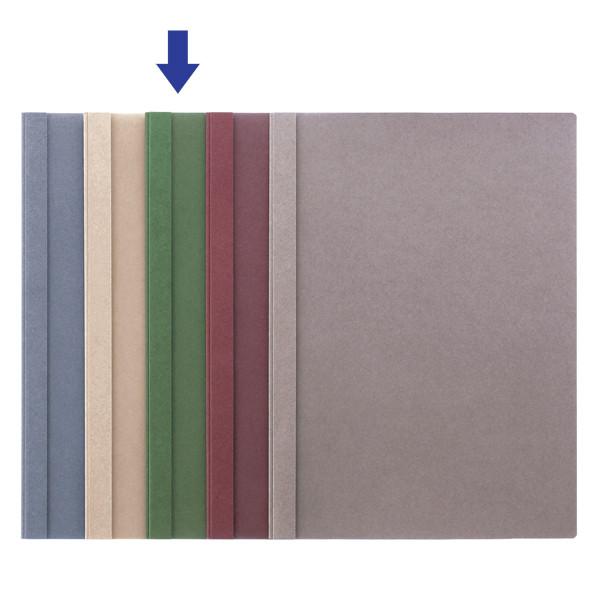 製本ファイル A4縦 緑 5冊