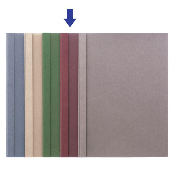 製本ファイル A4縦 赤 5冊