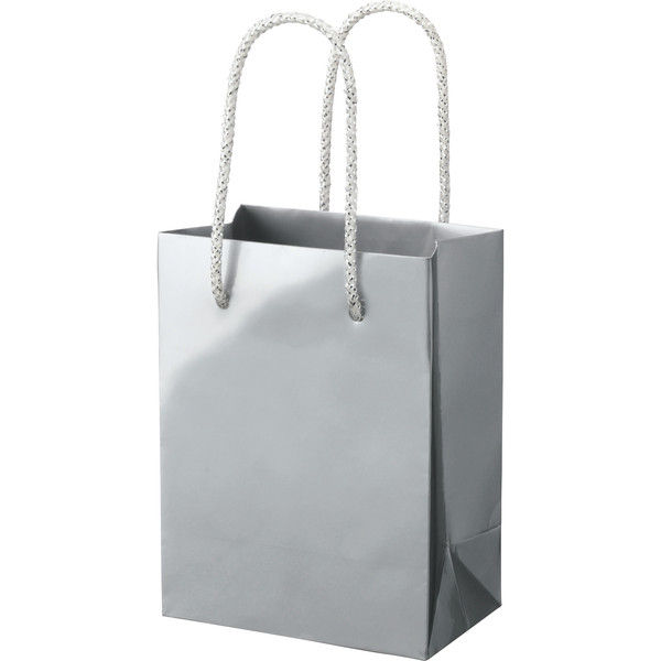 丸紐 手提げ紙袋 シルバー M 50枚