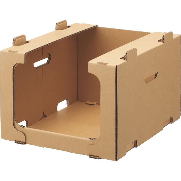 レンゴー 「現場のチカラ」 スタッキング収納箱小 1セット(50個:5個入×10梱包)