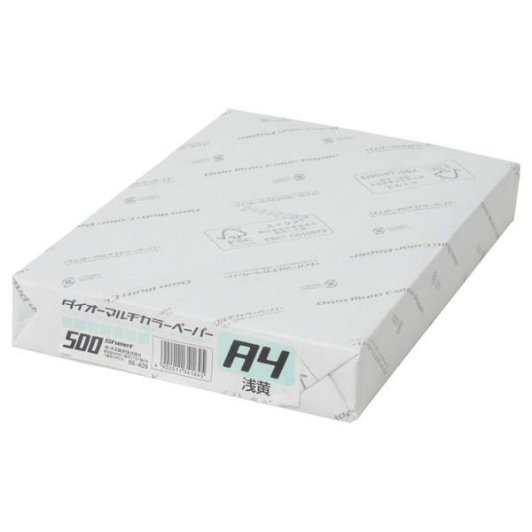 大王製紙 ダイオーマルチカラープリンタ用紙 86409 A4 1冊(500枚入) あさぎ色