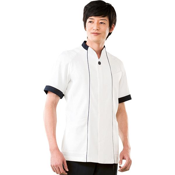 高浜ユニフォーム 男子 ジャケット 半袖 DZ52551 オフホワイト M (取寄品)