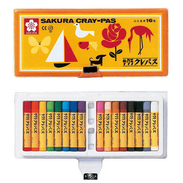 クレパス太巻16色 ソフトケース