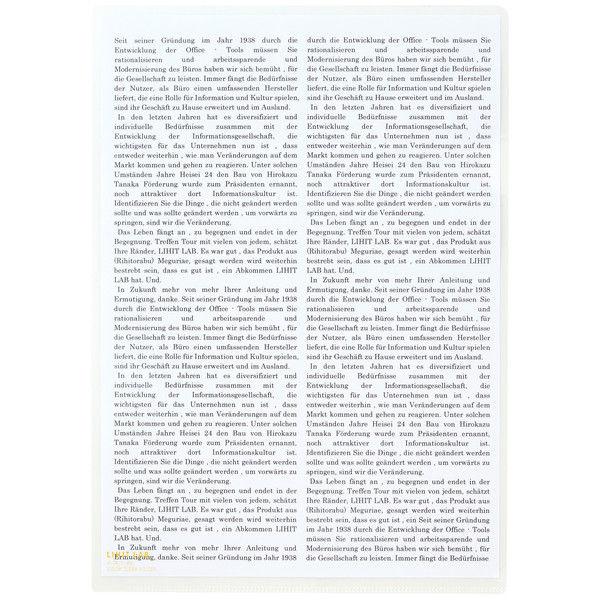 リヒトラブ カラークリヤーホルダー 乳白 A4タテ F78-1 1箱(50枚)