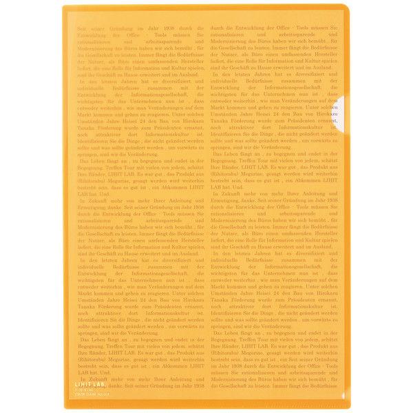 リヒトラブ カラークリヤーホルダー 橙 A4タテ F78-4 1箱(50枚)