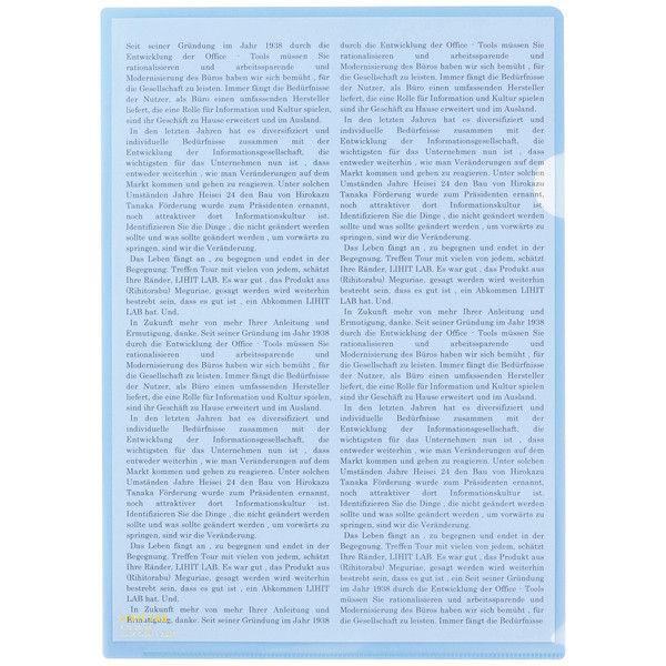 リヒトラブ カラークリヤーホルダー クリスタルブルー A4タテ F78-20 1箱(50枚)