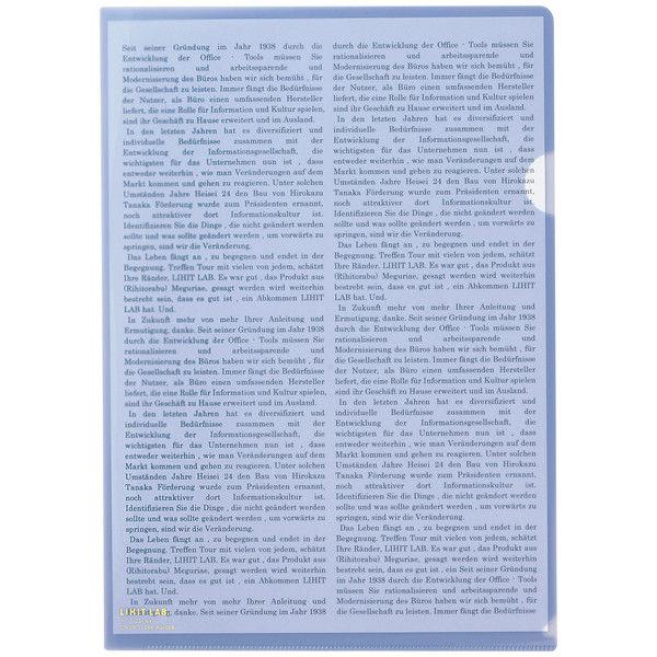 リヒトラブ カラークリヤーホルダー ブルーバイオレット A4タテ F78-23 1パック(5枚入)