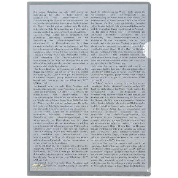 リヒトラブ カラークリヤーホルダー ブラック A4タテ F78-24 1箱(50枚)