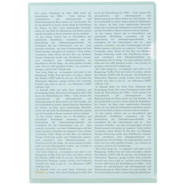 リヒトラブ カラークリヤーホルダー オリーブ A4タテ F78-22 1箱(50枚)