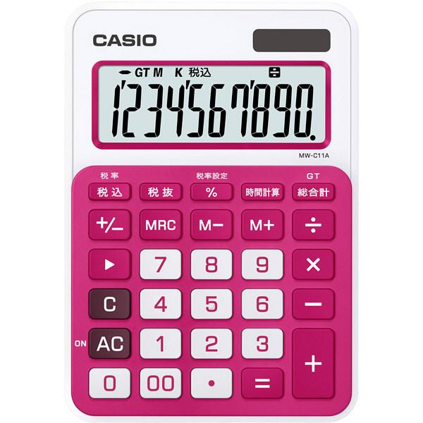 カシオ カラフル電卓 ルージュピンク