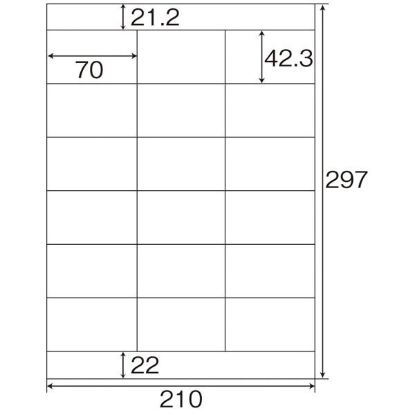 プラス Newいつものプリンタラベル 46612 ME-503 18面 上下余白付 1袋(20シート入)