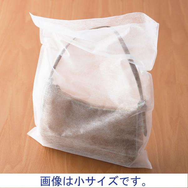 不織布平袋 ホワイト 大 100枚