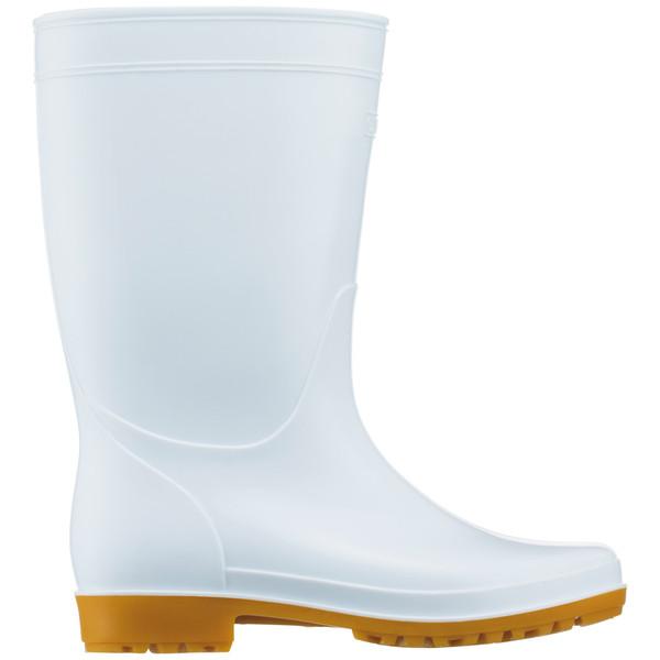 白長靴 24.5cm アスクル