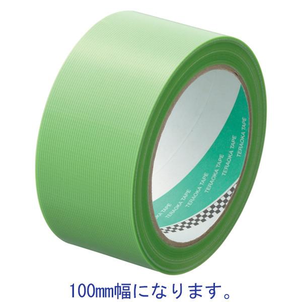 寺岡製作所 P-カットテープ 鉄骨用 強粘着 若葉 幅100mm×25m巻 4141