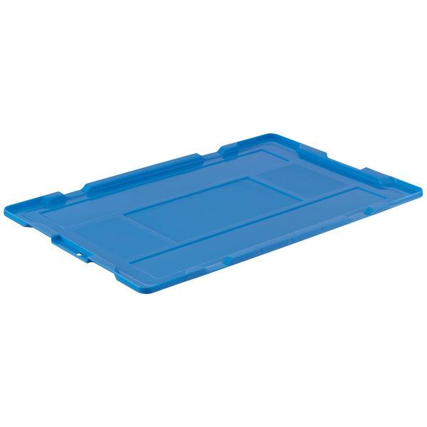 アスクル「現場のチカラ」 軽量折りたたみコンテナ用フタ ブルー