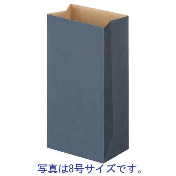 「現場のチカラ」カラー角底袋 青 6号 1袋(500枚入) スーパーバッグ