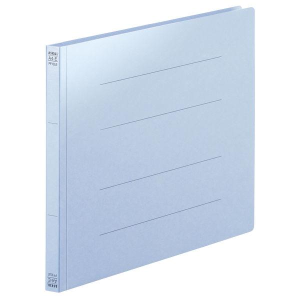 フラットファイル PPラミネート A4ヨコ 10冊 ロイヤルブルー アスクル