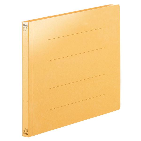 フラットファイル PPラミネート A4ヨコ 10冊 イエロー アスクル