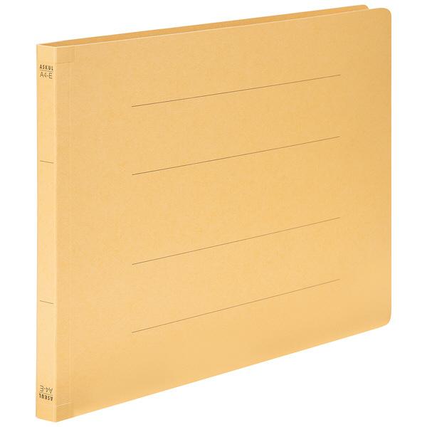 フラットファイル 背補強 A4ヨコ 10冊 イエロー アスクル