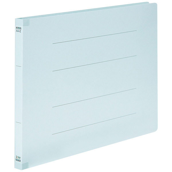 フラットファイル 背補強 A4ヨコ 10冊 ブルー アスクル