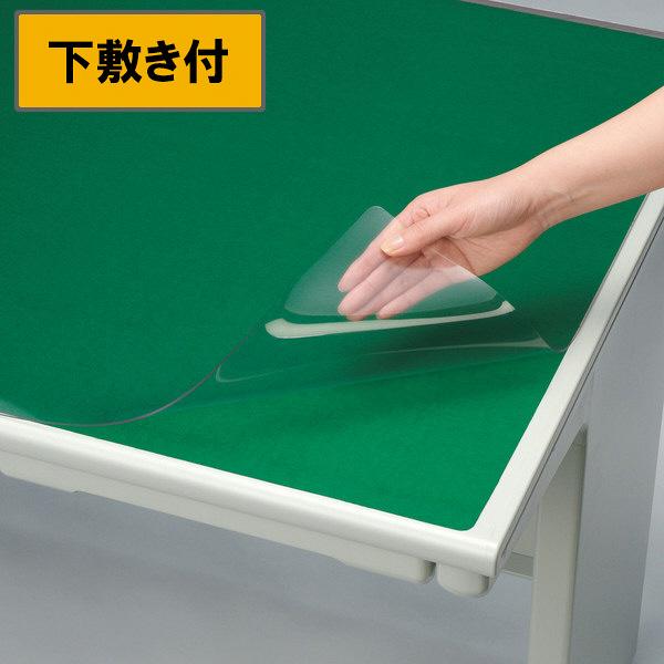 プラス デスクマット OAタイプ 特大(1590×690mm) 厚さ1.8mm 下敷き付