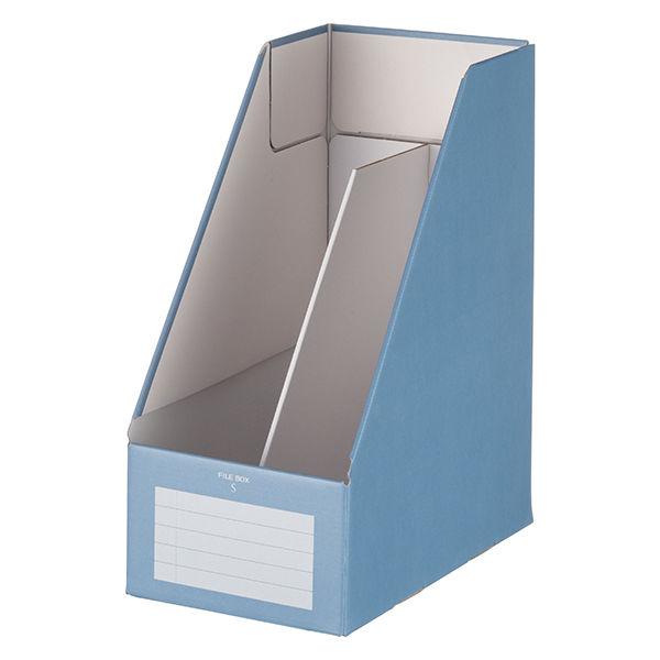 コクヨ ファイルボックスS<ワイドタイプ> A4タテ 青 フ-EW450B 1セット(5冊:1冊×5)