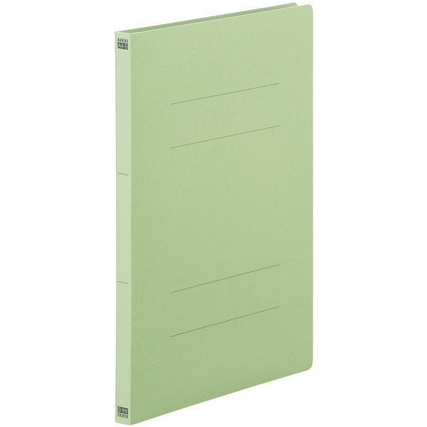 フラットファイル 上質表紙 A4タテ 10冊 グリーン アスクル