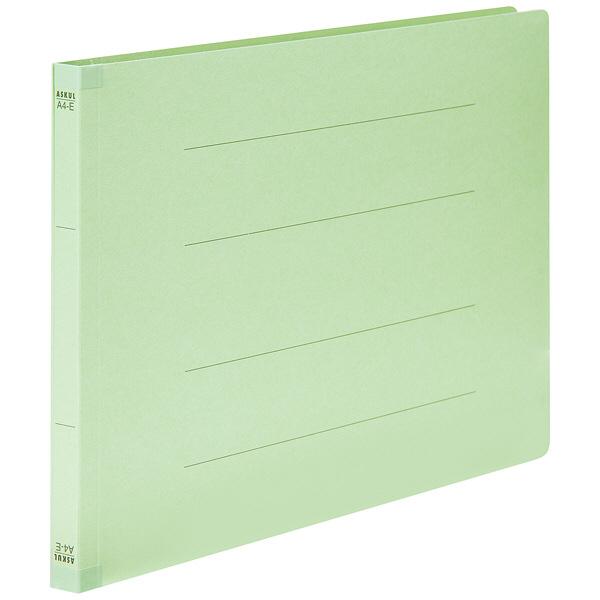 フラットファイル 背補強 A4ヨコ 30冊 グリーン アスクル