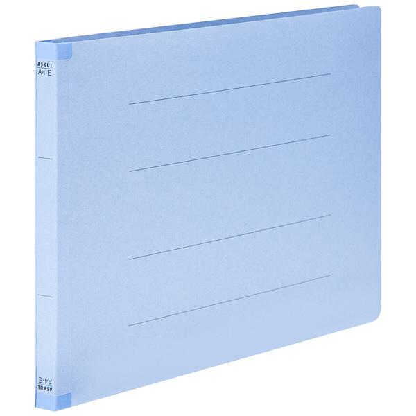 フラットファイル 背補強 A4ヨコ 30冊 ロイヤルブルー アスクル