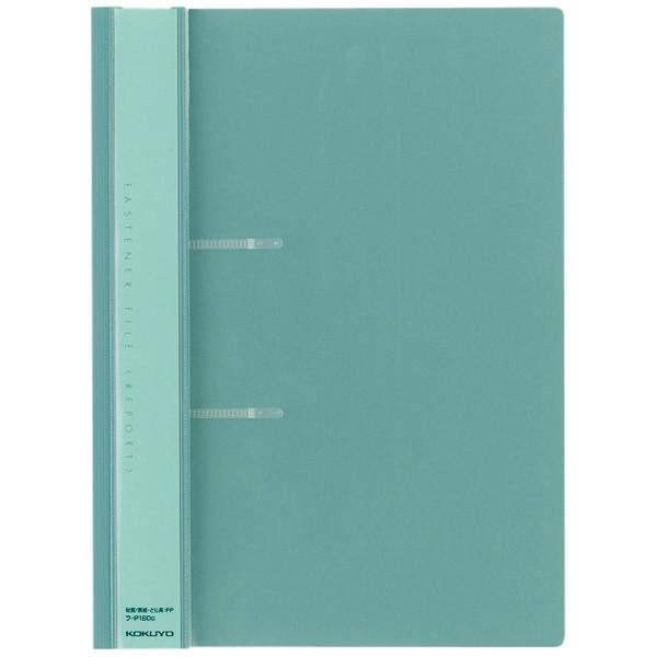コクヨ ファスナーファイル<レポート> A4タテ グリーン フ-P160G 1箱(100冊入)