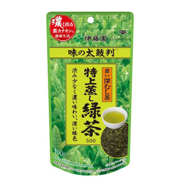 味の太鼓判・特上蒸し緑茶500 100g