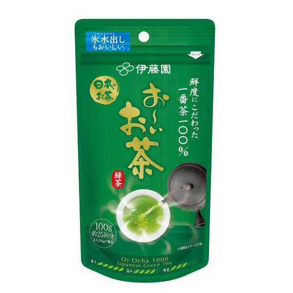 お~いお茶 一番茶摘み緑茶 100g