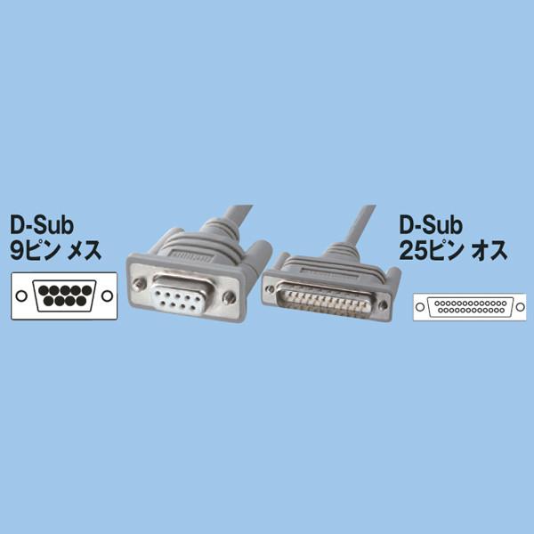 サンワサプライ RS232Cケーブル2m