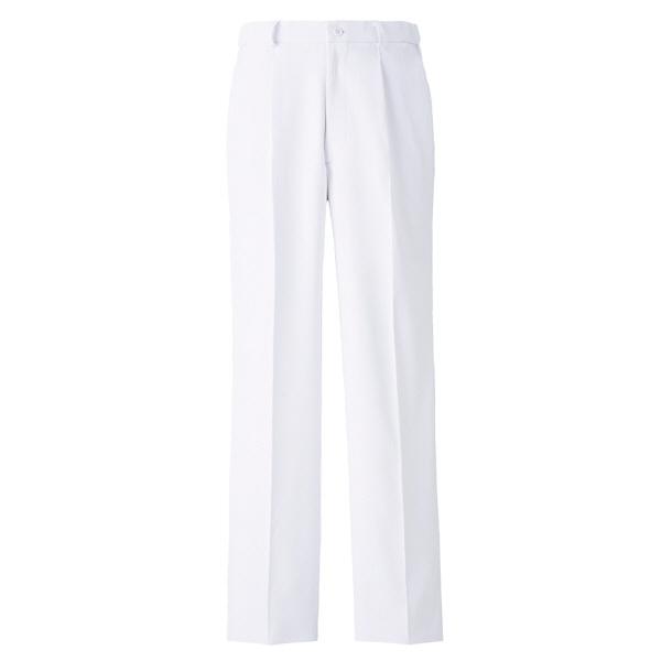 高浜ユニフォーム 医療白衣 メンズ ストレッチ ワンタックパンツ ホワイト M TU-P212 1枚 (取寄品)