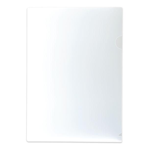 プラス クリアーホルダー厚口 A4タテ 厚さ0.3mm 角R 1パック(100枚:20枚入×5)