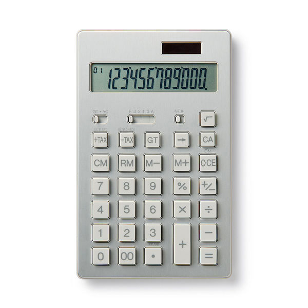 電卓 12桁 シルバー