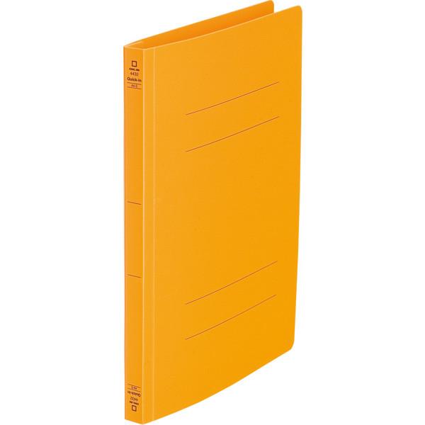 キングジム フラットファイルクイックイン A4タテ オレンジ 4432