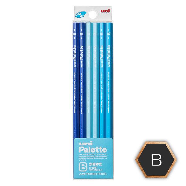 鉛筆 B ユニパレット 1ダース 青