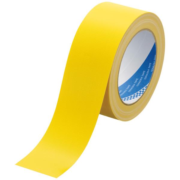 カラー布テープ No.1535 0.20mm厚 50mm×25m巻 黄 1セット(5巻:1巻×5) 寺岡製作所