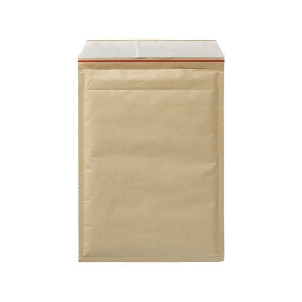 クッション封筒 ジェットメイラーライト A4サイズ用 茶 無地 封緘シール付 1箱(100枚入) ユニオンキャップ