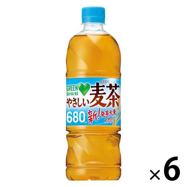 グリーンダカラやさしい麦茶650mlx6