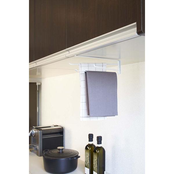 戸棚下布巾ハンガー タワー ホワイト