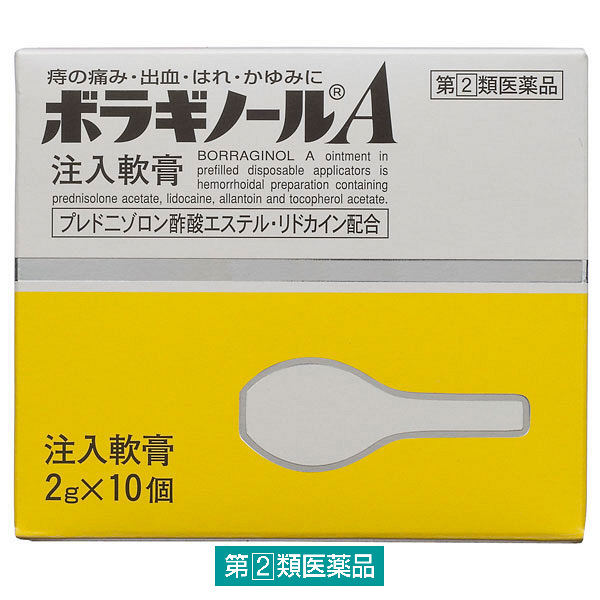 ボラギノールA注入軟膏 2g×10個