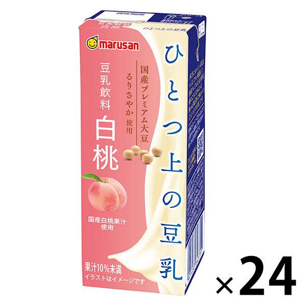 ひとつ上の豆乳 豆乳飲料白桃 200ml