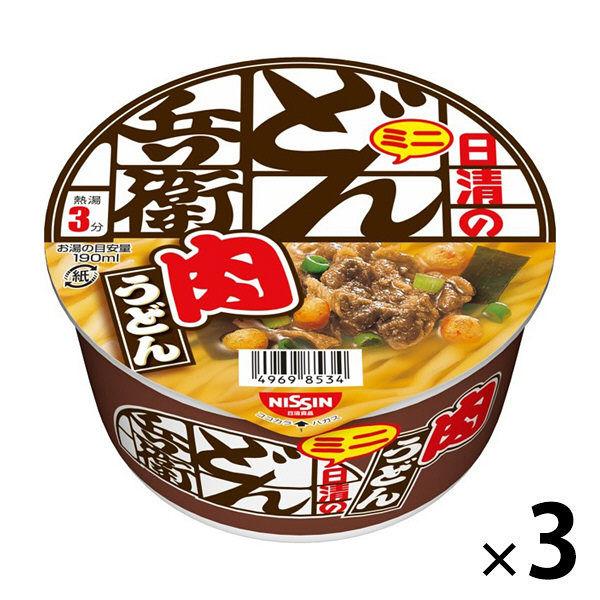 日清のどん兵衛 肉うどんミニ 3食