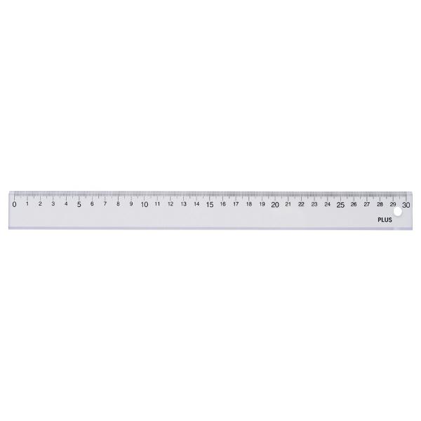 アスクル】プラス PET直定規 30cm 透明 47189 通販 - ASKUL(公式)