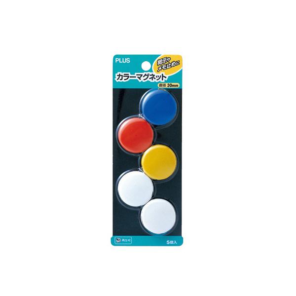 プラス カラーマグネット CP-030M MIX 1パック(5個入) (直送品)