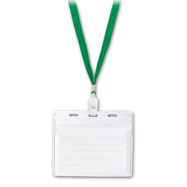 ソニック IDカード用吊下げ名札 緑 NF-451-G (直送品)